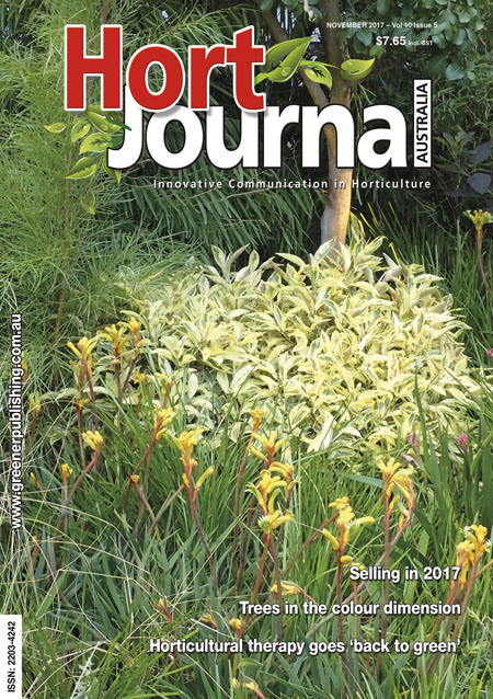 Cover of Hort Journal Australia November 2017