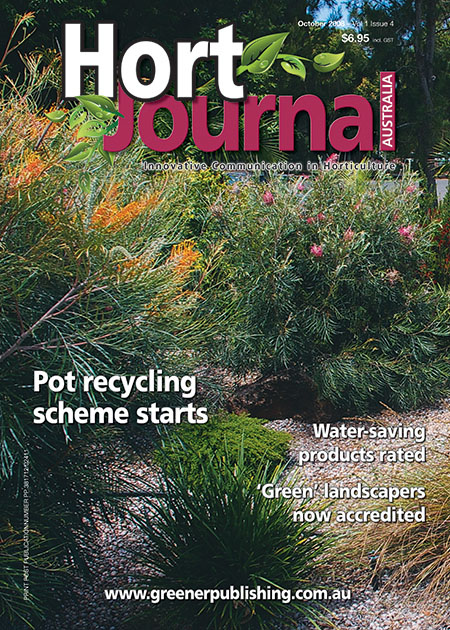Cover of Hort Journal Australia October 2008