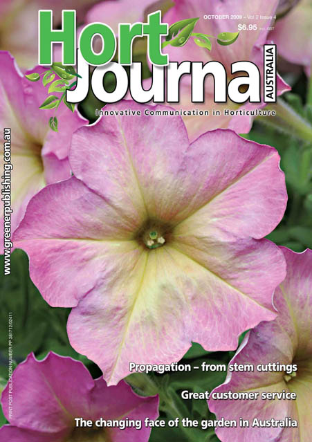 Cover of Hort Journal Australia October 2009