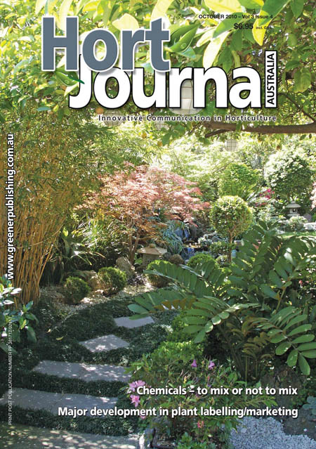 Cover of Hort Journal Australia October 2010