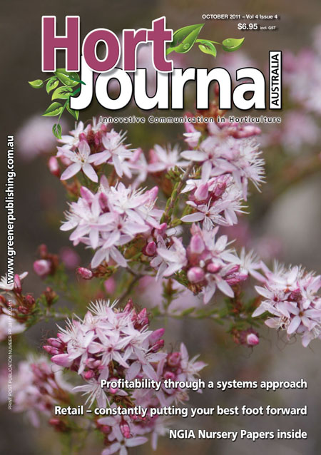 Cover of Hort Journal Australia October 2011