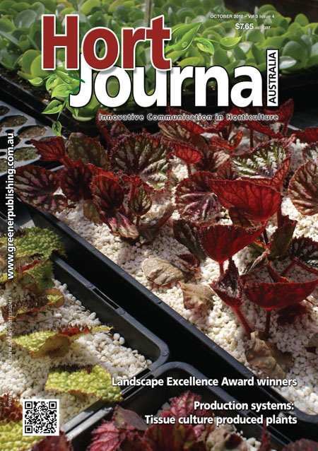 Cover of Hort Journal Australia October 2012