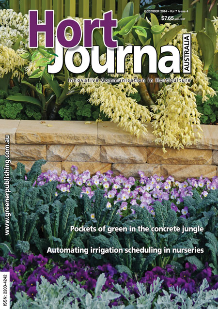 Cover of Hort Journal Australia October 2014