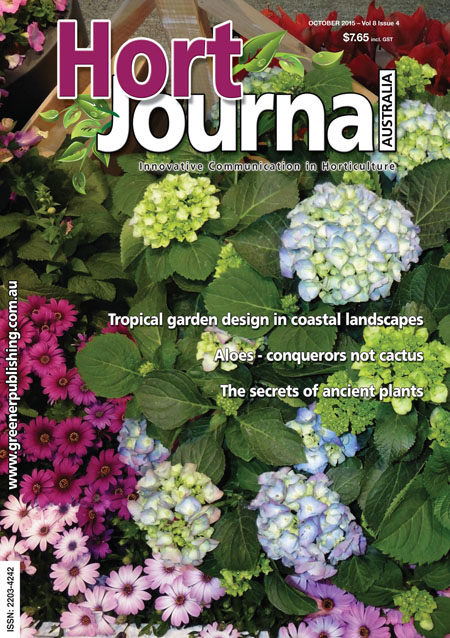 Cover of Hort Journal Australia October 2015