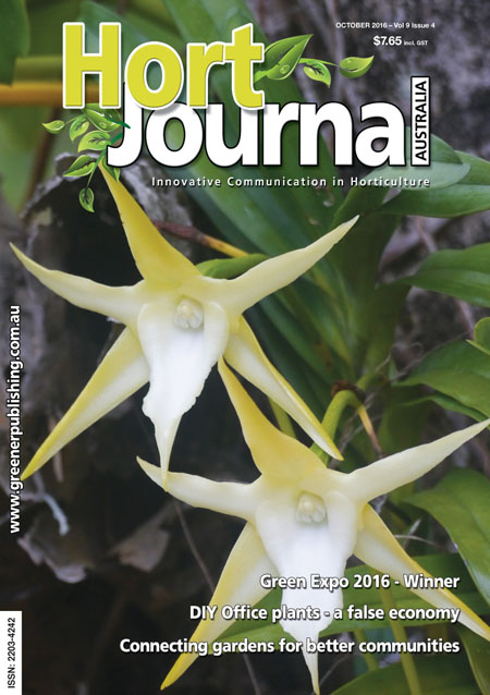 Cover of Hort Journal Australia October 2016