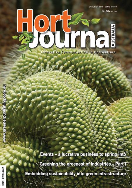 Cover of Hort Journal Australia October 2019