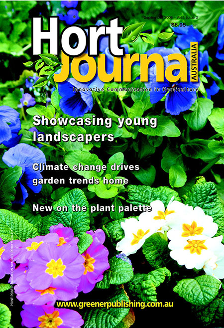 Cover of Hort Journal Australia September 2008