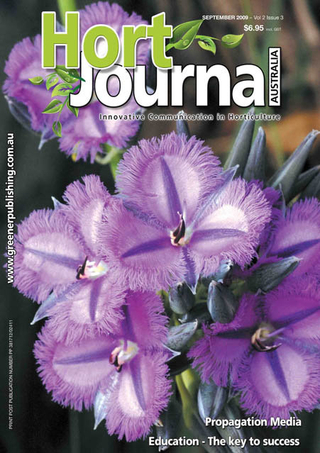 Cover of Hort Journal Australia September 2009