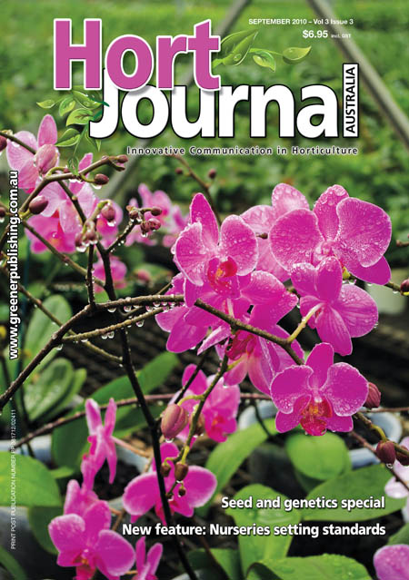 Cover of Hort Journal Australia September 2010