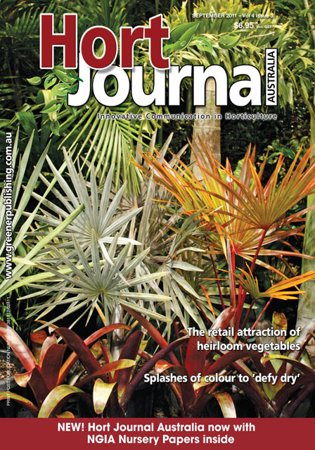 Cover of Hort Journal Australia September 2011