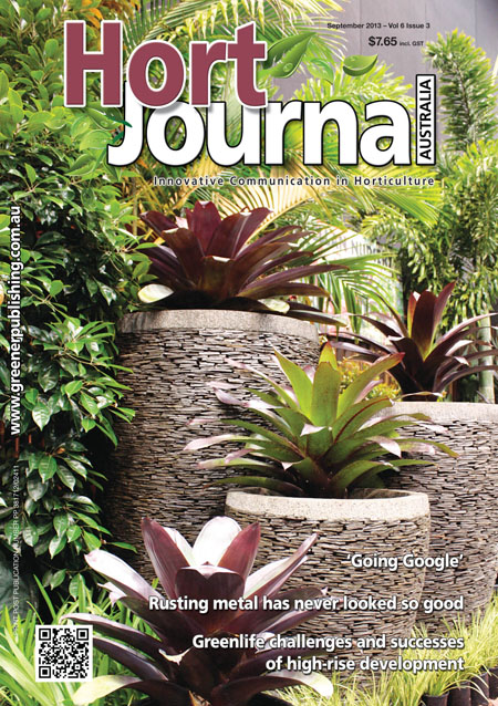 Cover of Hort Journal Australia September 2013