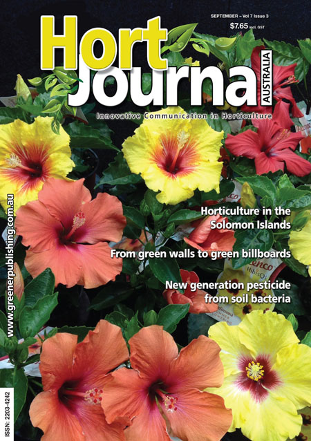 Cover of Hort Journal Australia September 2014