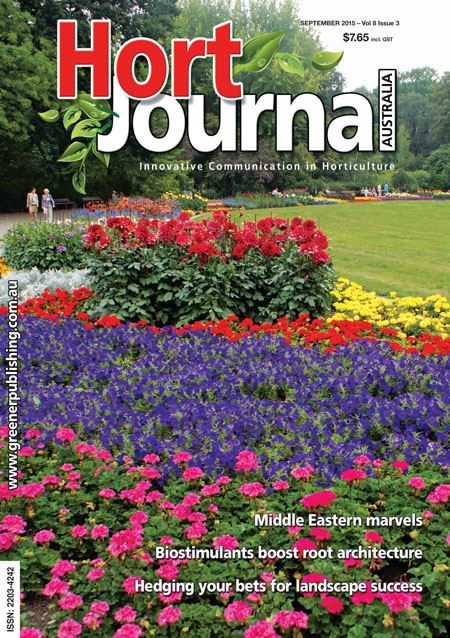 Cover of Hort Journal Australia September 2015