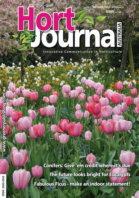 Cover of Hort Journal Australia September 2016