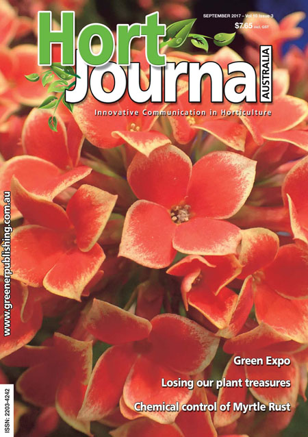 Cover of Hort Journal Australia September 2017