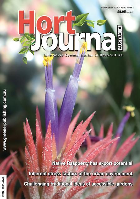 Cover of Hort Journal Australia September 2020