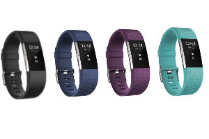 Group shot of Fitbit Charge 2