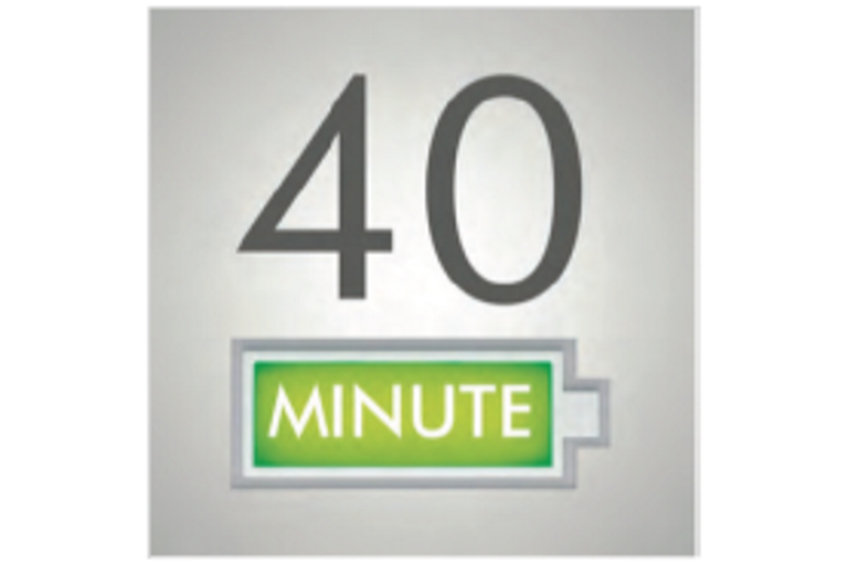 40 minute battery life icon