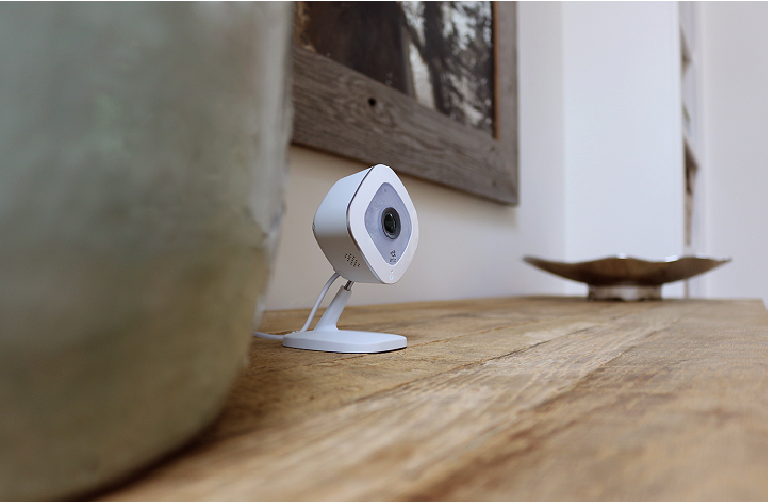 The Arlo Q Plus camera mounted discreetly on a