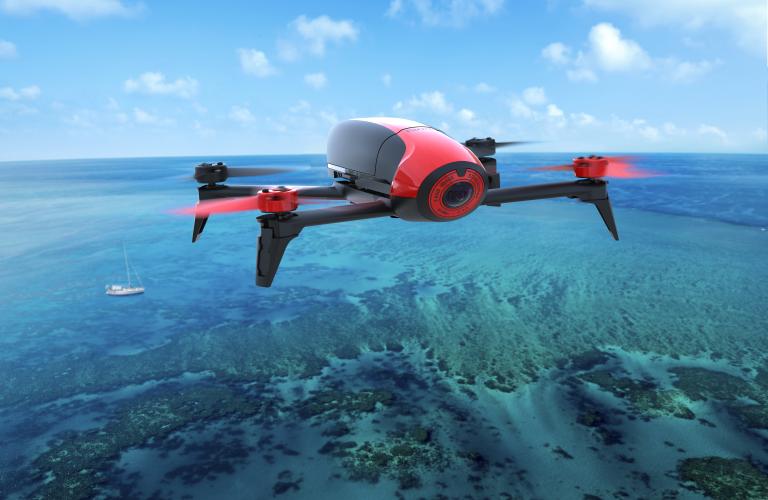 Bebop 2 flying over reef
