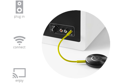 Chromecast Audio setup steps.