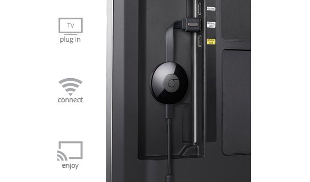 Chromecast setup steps.