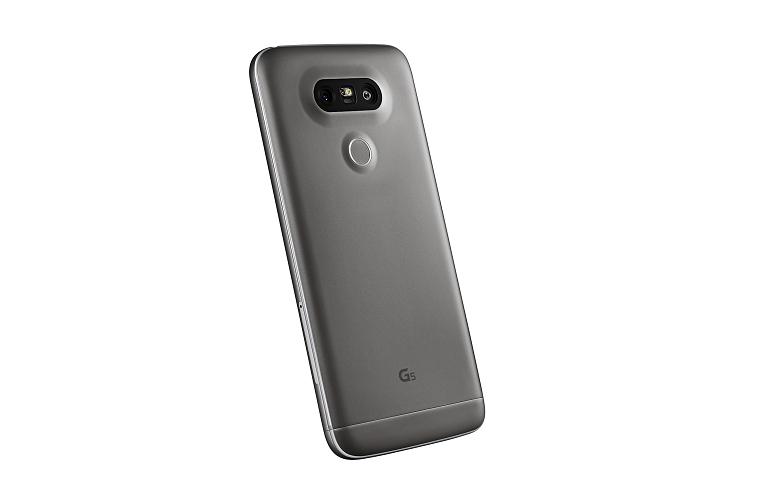 Rear view of the LG G5 showcasing rear camera and fingerprint sensor