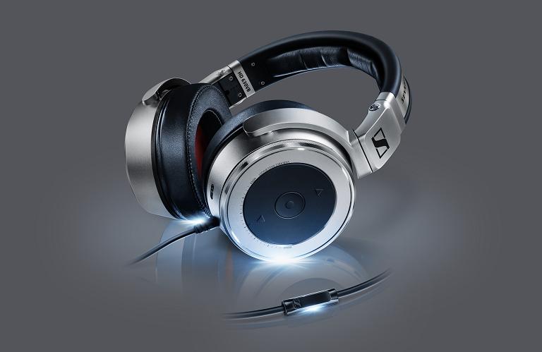 HD 630VB headphones with blue glow.