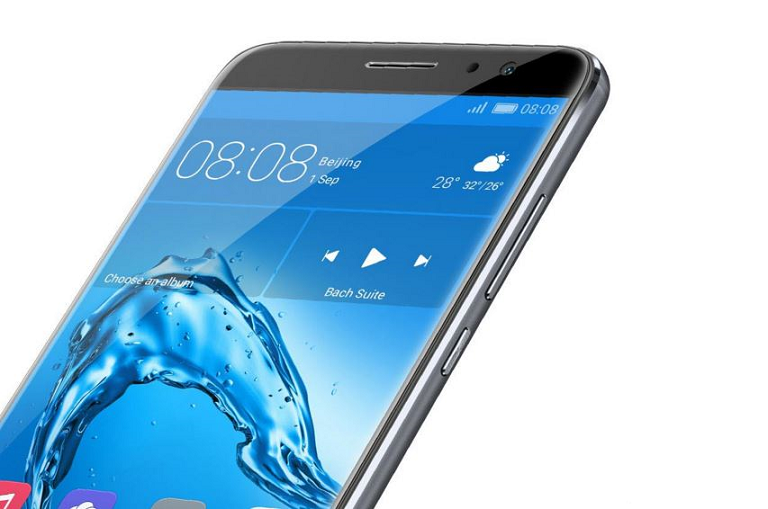 Angled view of the Huawei smart phone screen