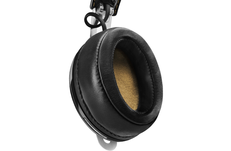 Momentum Wireless Headphones ear cup.