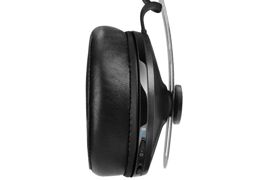 Side-on view of Momentum Wireless Headphones.