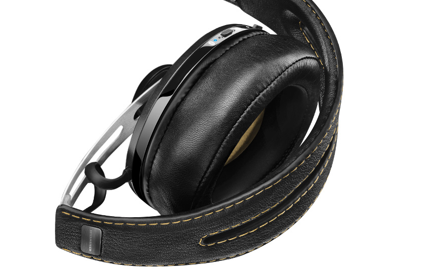 Momentum Wireless Headphones folded up.