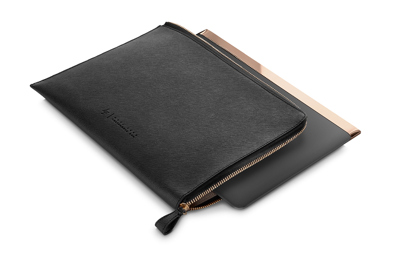 The Spectre sleeve with zipper undone, showing the Spectre laptop fitting neatly inside