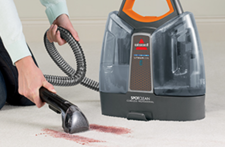 SpotClean cleaning carpet