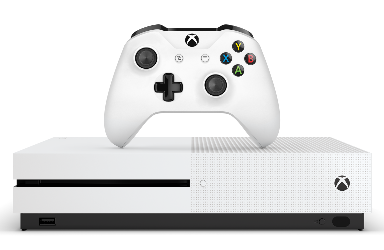 The Xbox One S console and controller