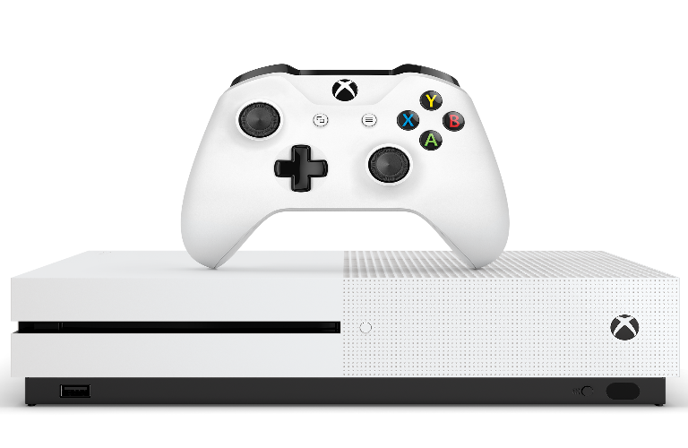 Xbox One S controller and console