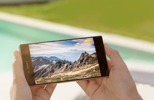 View 4K media on the Xperia Z5 Premium's screen.