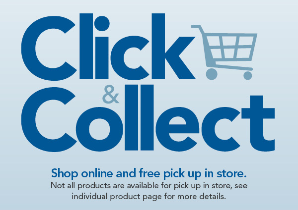 Click & Collect, shop online and free pick up in store.