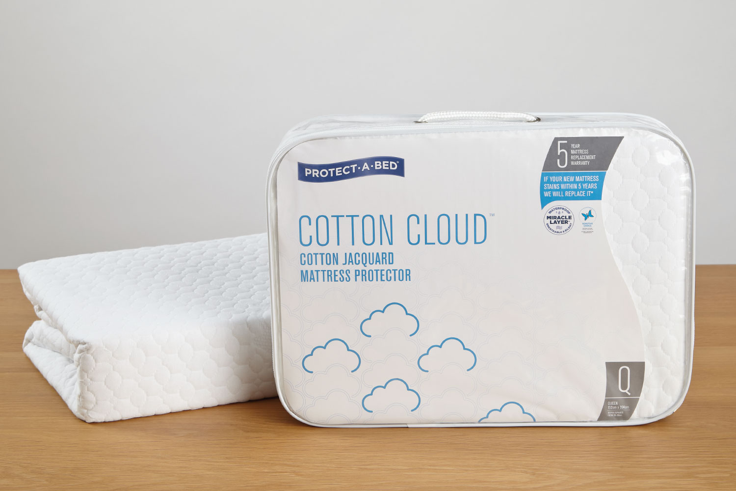 Cotton Cloud Mattress Protector by Protect-A-Bed at Harvey Norman New Zealand
