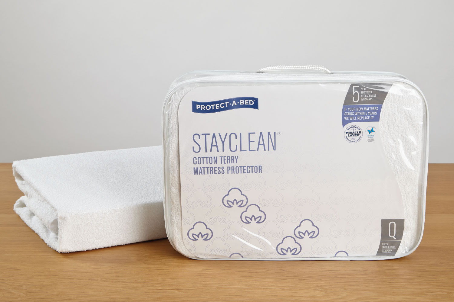 Stay Clean Mattress Protector by Protect-A-Bed at Harvey Norman New Zealand