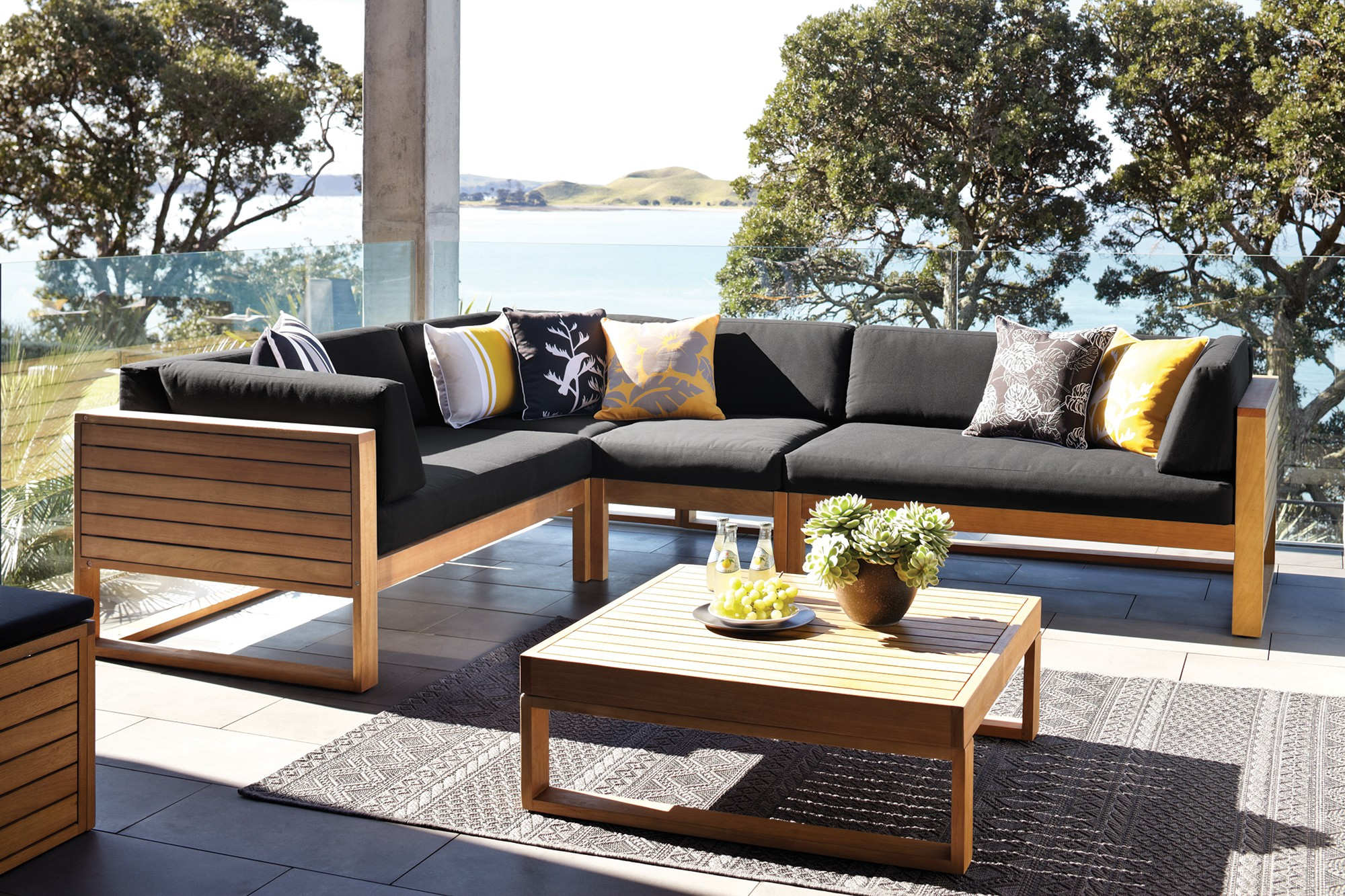 Outdoor furniture cushions table chairs umbrellas for Outdoor furniture harvey norman