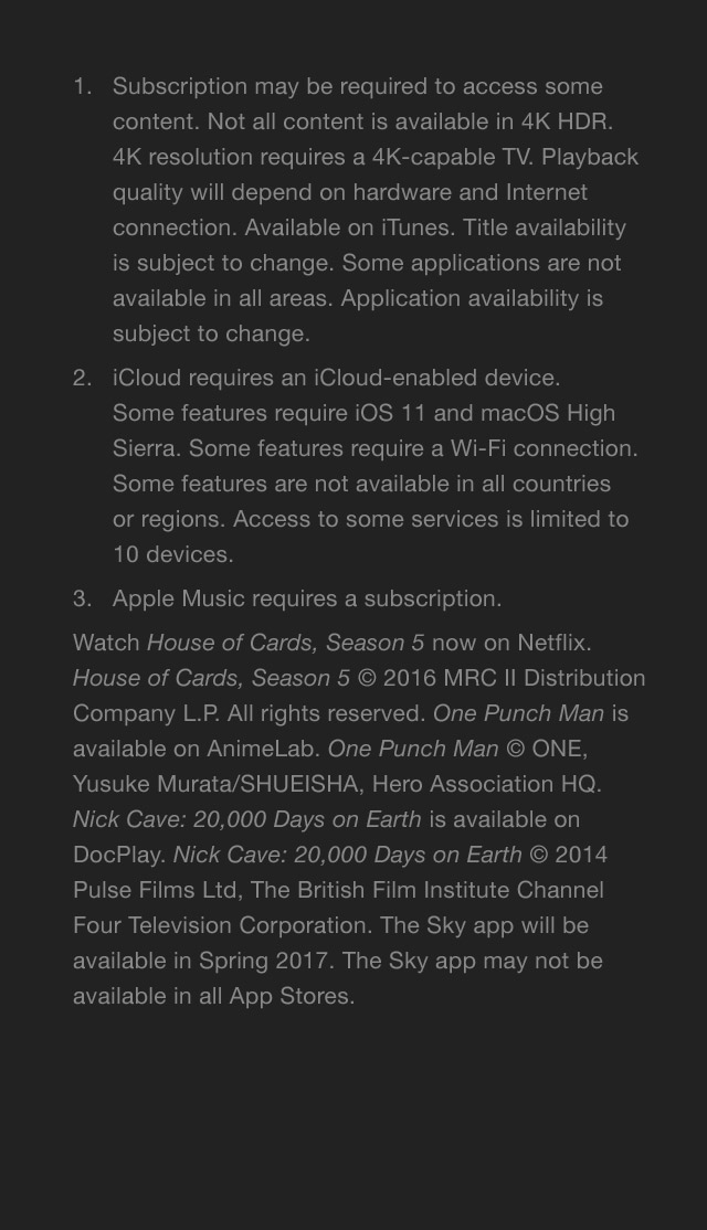 Apple TV terms