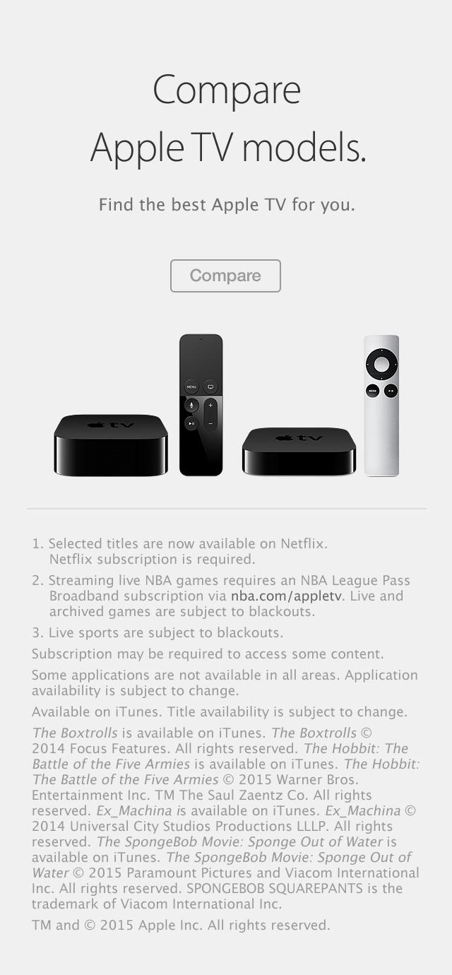 Apple TV compare