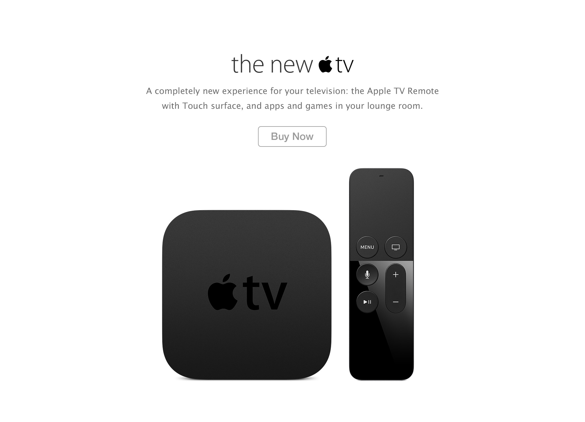 The New Apple TV buy now