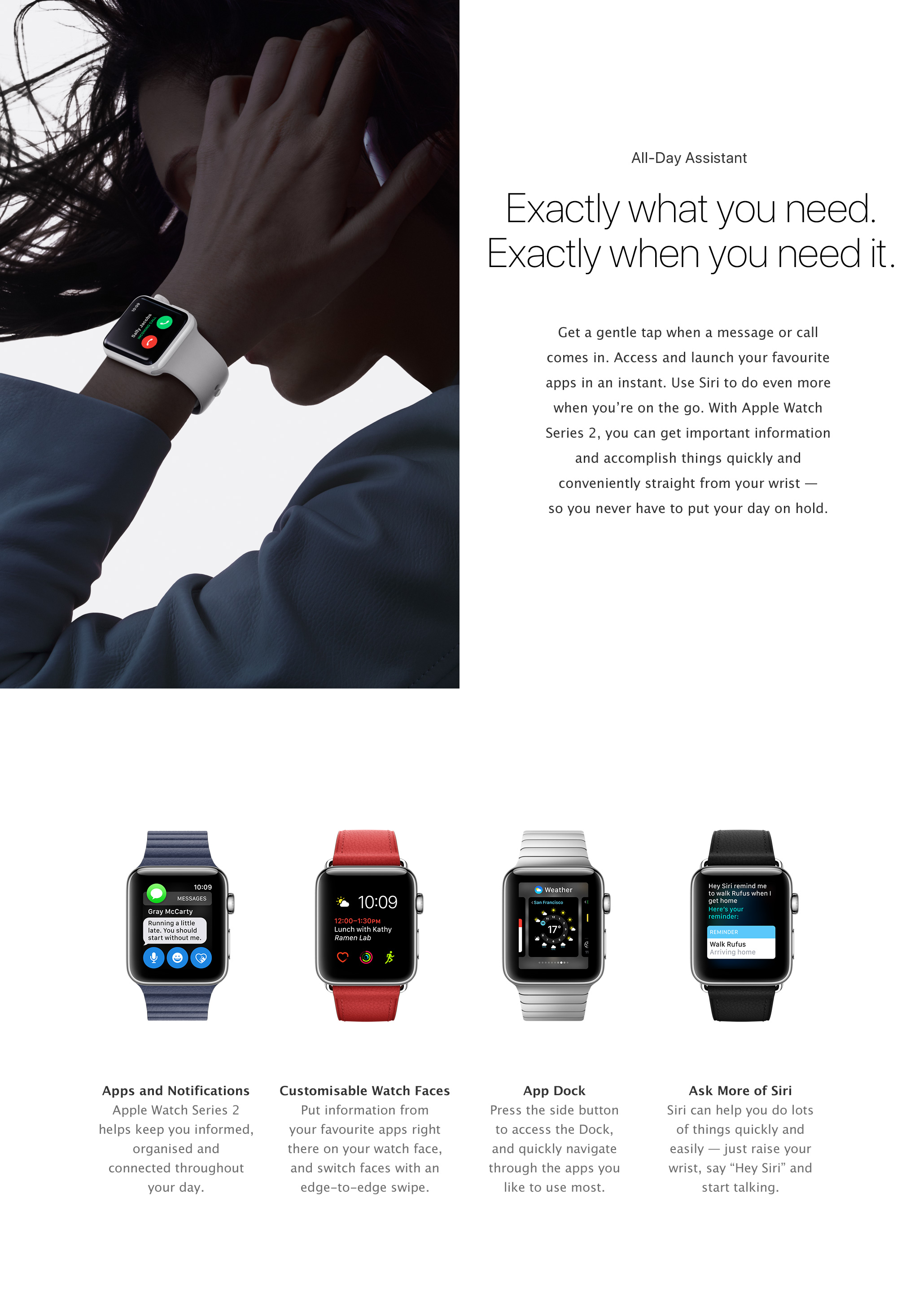 Apple Watch features