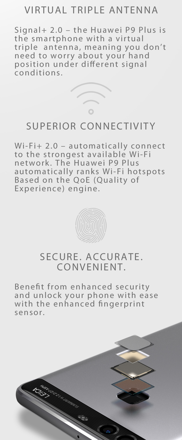 Huawei P9 Plus features