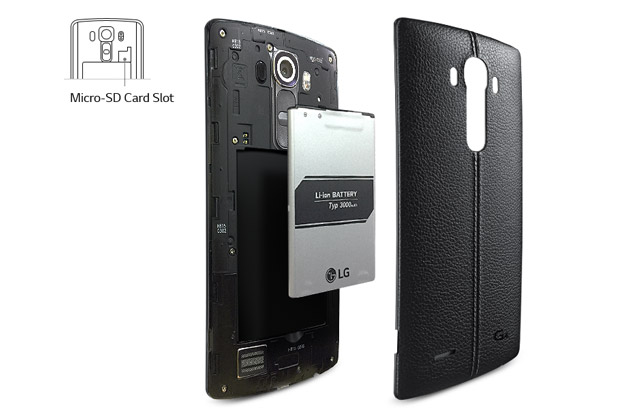 Removable Back, Battery & MicroSD Card