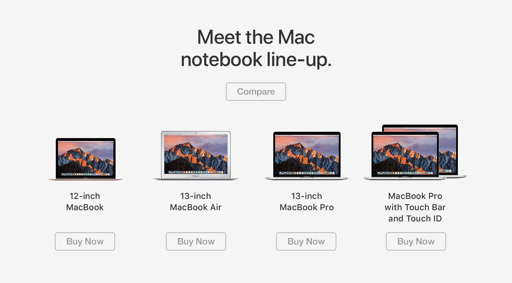 MacBook range
