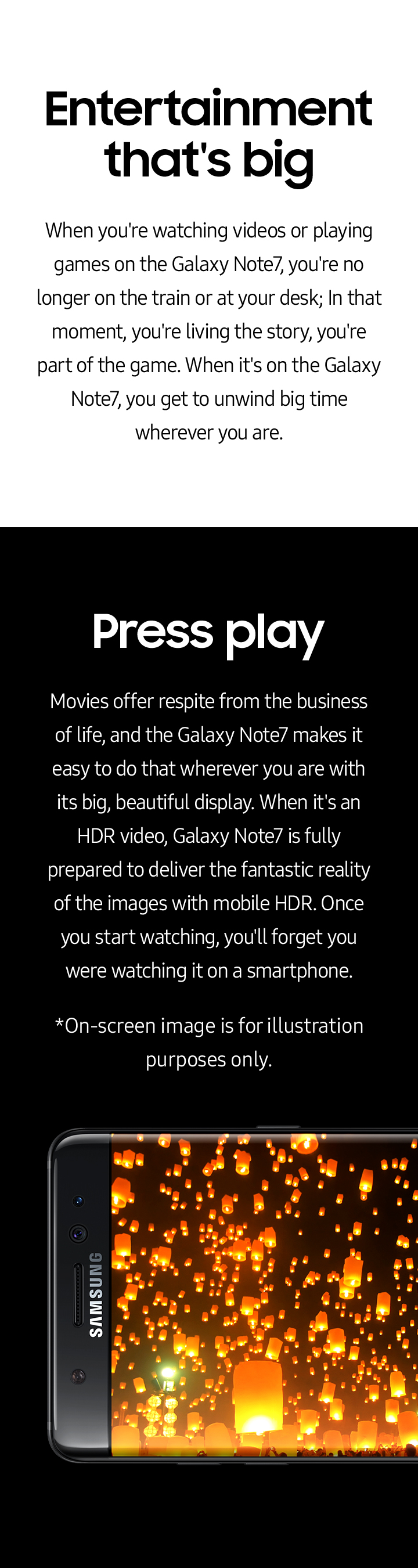 Galaxy S7 features