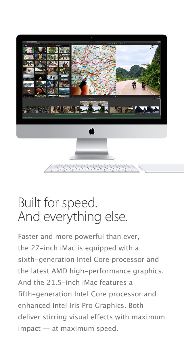 iMac features